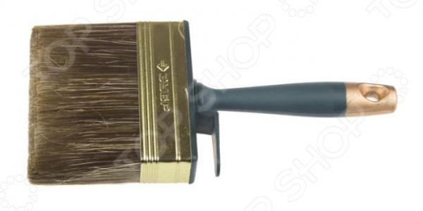 Макловица Зубр «Лазурь-Эксперт» 01816 кисть макловица 30х70 мм натуральная щетина пластмассовый корпус пластмассовая ручка sparta