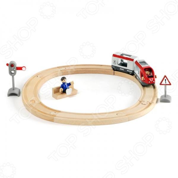 Железная дорога со светофором Brio 33511