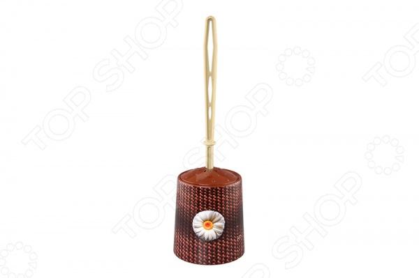 Ёршик для туалета и подставка круглая для детей Violet 1401/80 «Плетенка»