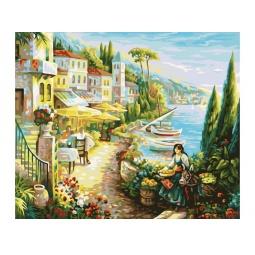фото Набор для раскрашивания по номерам Белоснежка «Итальянский городок»