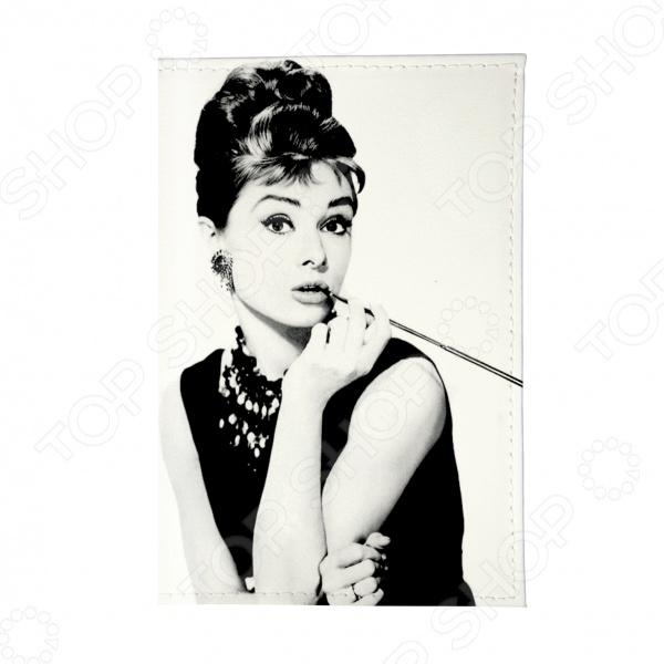 Обложка для автодокументов Mitya Veselkov «Одри курит» обложка для автодокументов кожаная mitya veselkov одри в черном платье