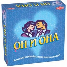 Купить Игра настольная для компании Tactic «Он и она»