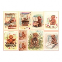 Купить Декупажная карта Karalliki «Медвежата»