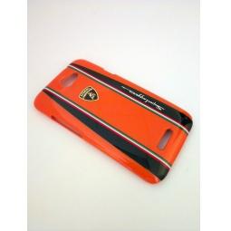 фото Чехол Lambordghini Cover Superleggera D1 для HTC One X. Цвет: оранжевый