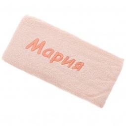 фото Полотенце подарочное с вышивкой TAC Мария. Цвет: персиковый