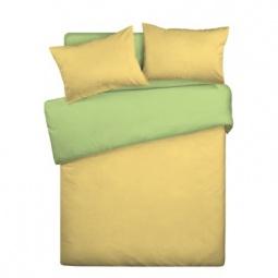 фото Комплект постельного белья Wenge Uno «КБВу-21». 2-спальный. Цвет: желтый, салатовый