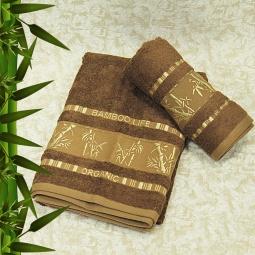 фото Полотенце махровое Mariposa Tropics brown. Размер полотенца: 70х140 см