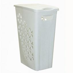 фото Корзина для белья узкая IDEA М 2604. Цвет: белый