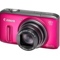 фото Фотокамера цифровая Canon PowerShot SX240 HS. Цвет: розовый