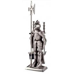 Купить Набор для камина никелированный на подставке VORTEX «Рыцарь»
