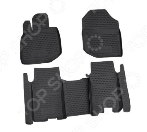 Комплект ковриков в салон автомобиля Novline-Autofamily Daewoo Matiz 2000. Цвет: черный - фото 6