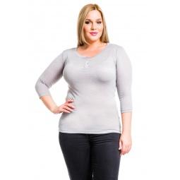 фото Кофта Mondigo XL 8518. Цвет: серый. Размер одежды: 52