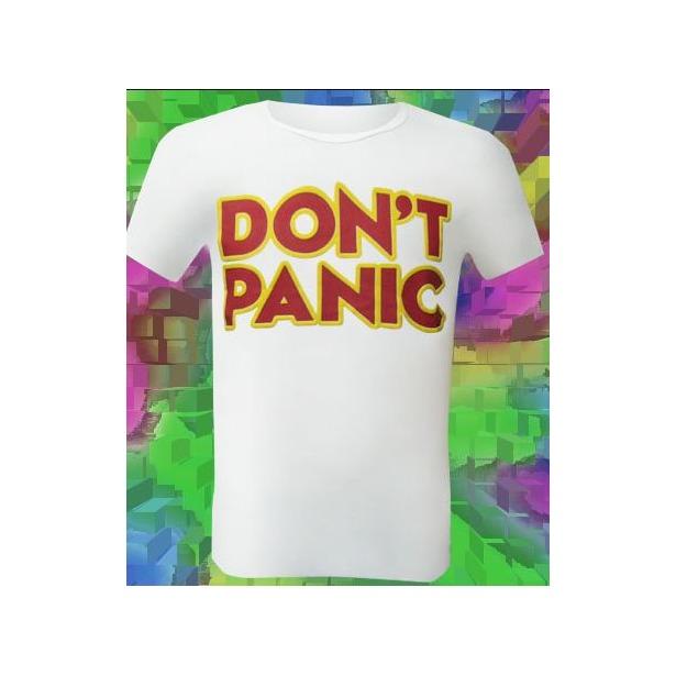 фото Футболка мужская Dodogood Don't panic. Цвет: белый. Размер одежды: 44