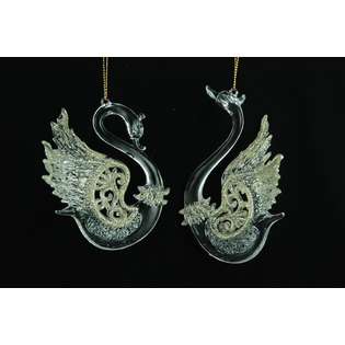 Купить Елочное украшение Crystal Deco «Лебедь». В ассортименте
