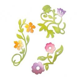 фото Набор форм для вырубки Sizzix Sizzlits Die Цветочки