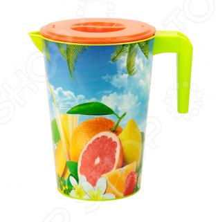 Кувшин для напитков Альтернатива ТропикиКувшины<br>Кувшин Альтернатива Тропики - яркий сосуд для освежительных напитков, который также передает настроения лета и радости посредством своего окраса и картинок. Объем составляет 2 л.<br>
