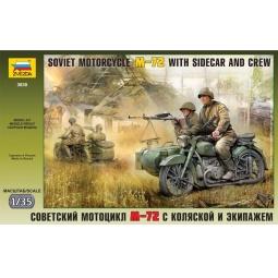 фото Сборная модель Звезда советский мотоцикл М-72 с коляской