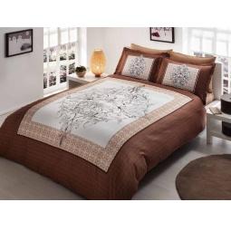 фото Комплект постельного белья TAC Caron. Евро. Цвет: коричневый