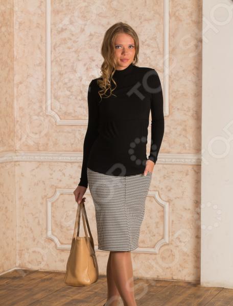 купить Юбка для беременных Nuova Vita 6106. Цвет: черный, белый по цене 1070 рублей