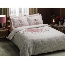 фото Комплект постельного белья TAC Alissa. Евро. Цвет: розовый
