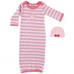 Купить Комплект: ночная сорочка и шапочка Luvable Friends. Цвет: розовый