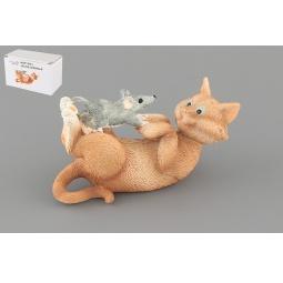 Купить Фигурка декоративная Elan Gallery Кот с мышкой