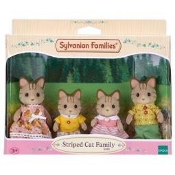 фото Набор игрушек-зверюшек Sylvanian Families 5180 «Семейка полосатых кошек»