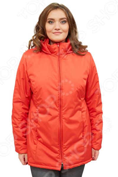 Куртка СВМ-ПРИНТ «Ласковое тепло». Цвет: красныйВерхняя одежда<br>Куртка СВМ-ПРИНТ Ласковое тепло создана с учетом всех особенностей женской фигуры. Она идеально подойдет для женщин любого возраста и комплекции. Продуманный дизайн изделия позволяет скрыть недостатки и подчеркнуть достоинства фигуры.  Легкая, мягкая и теплая куртка. Не пропускает влагу и ветер, не сковывает движений, расцветка насыщенная и современная.  Капюшон не нарушит прическу и укроет от дождя и ветра.  По бокам предусмотрено два кармана.  Центральная застежка на молнию.  На фотографии куртка представлена в сочетании со Slim Jeggings.  Уникальная модель, доступная только в телемагазине Top Shop . Куртка сшита из плотной ткани, состоящей на 100 из полиэстера. В качестве наполнителя выступает синтепон плотностью 100 г кв.м. Эта модная куртка подойдет для погоды вплоть до -5 C .<br>