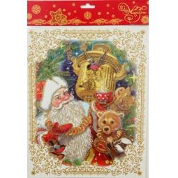 фото Пленка декоративная для окна Феникс-Презент 38627 «Дед Мороз с самоваром»