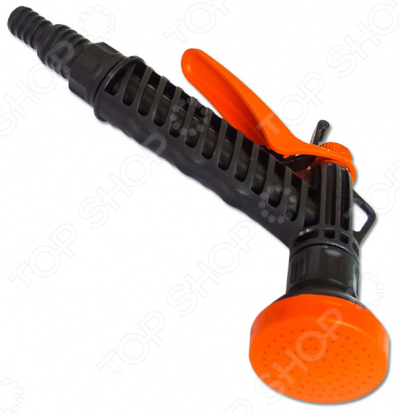 Пистолет для полива «Жук» 090402-201Пистолеты для полива<br>Пистолет для полива Жук 090402-201 функциональное приспособление, которые облегчает процесс полива огорода, сада или приусадебного участка. Пистолет-душ выполнен из прочного пластика, которые обеспечивают долгий срок эксплуатации приспособления. Эргономичная конструкция корпуса позволяет удобно его держать. Пистолет подает воду рассеянным поток при нажатии на клавишу. Для большего удобства предусмотрен фиксатор клавиш, который позволяет без усилий удерживать из в рабочем положении нужное количество времени. Рабочее давление составляет 1-3 атмосферы.<br>