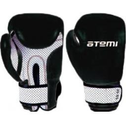 фото Перчатки боксерские ATEMI 02-005B черно-белые. Размер: 8 OZ