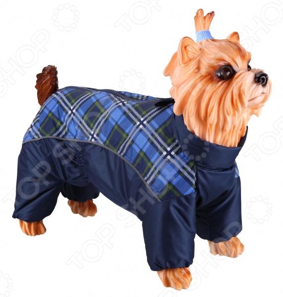 Комб��незон-дождевик для собак DEZZIE «Мальтийская болонка». Цвет: синий дождевик для собак
