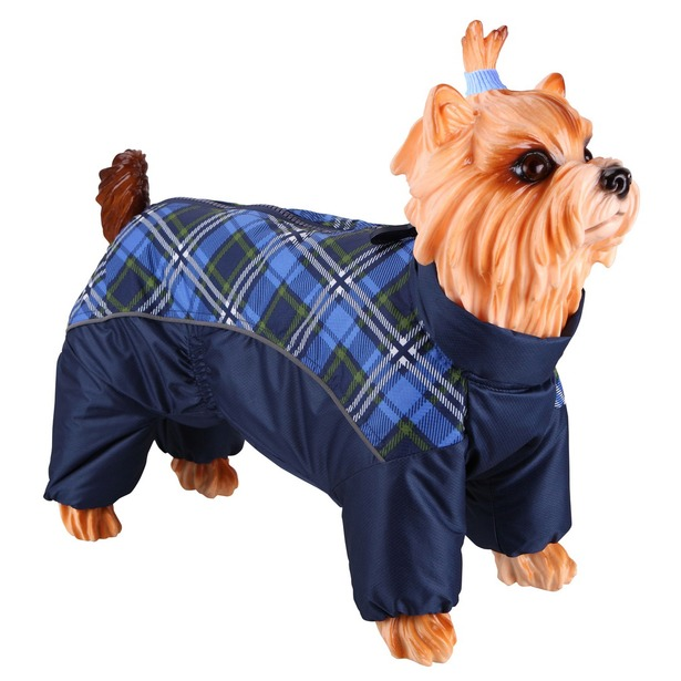 фото Комбинезон-дождевик для собак DEZZIE «Мальтийская болонка». Цвет: синий. Материал подкладки: синтепон
