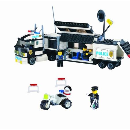 Купить Конструктор игровой для ребенка Brick «Полицейский Трейлер» 128