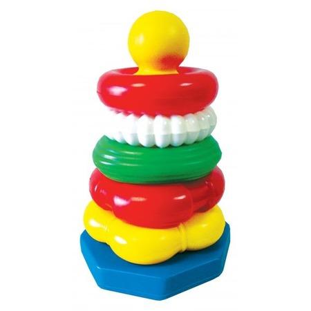 Купить Игрушка-пирамидка большая Строим вместе «Ассорти»
