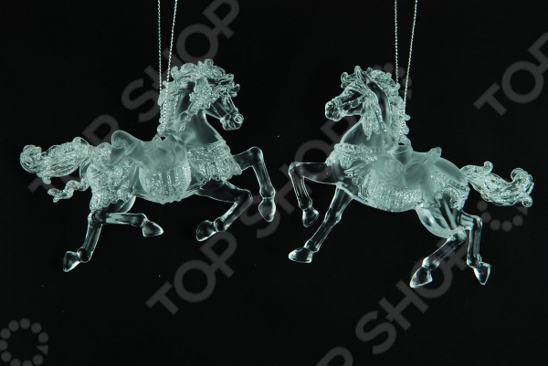 Елочное украшение Crystal Deco «Лошадка» 1707603. В ассортименте