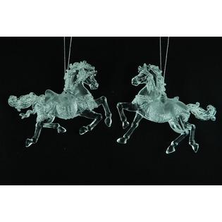 Купить Елочное украшение Crystal Deco «Лошадка» 1707603. В ассортименте