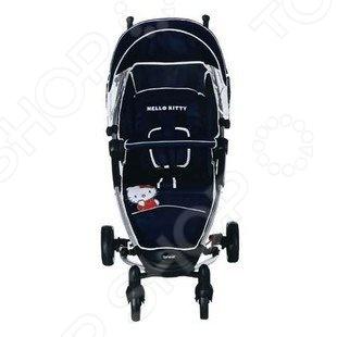 Коляска прогулочная Brevi Hello Kitty - складная прогулочная коляска для детей. Приспособлена для городских условии и удобна в поездках на любых видах транспорта. Имеет смотровое окно, чтобы ребенку, даже в дождь, можно было посмотреть на природу и дождевик, чтобы дождь на него не попадал. Оснащена пятиточечным ремнем безопасности. Также коляска оснащена вместительной корзиной для покупок. С такой коляской будет хорошо не только ребенку, но и его родителям ведь маневренная коляска имеет резиновые двойные колеса. Передние поворотные колеса можно фиксировать. Ребенка будет удобно катать в такой коляске без особых усилий, а внешний неброский дизайн привлечет своей аккуратностью.