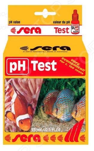 Тест для аквариумной воды Sera pH-Test тест sera ph тест для воды 15 мл