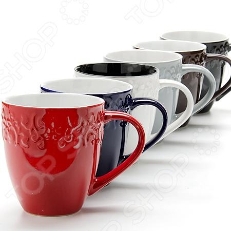 Набор чашек Loraine 24653Кружки. Чашки<br>Набор чашек Loraine 24653 включает в себя 7 предметов шесть чашек и удобную металлическую подставку, в которой эти чашки можно будет хранить. Такой набор чашек отлично подойдет для использования дома и в офисе. Они выдерживают высокие температуры и их можно ставить в микроволновую печь. Объем каждой чашки 390 мл, как раз большая порция вашего любимого напитка. Если напиток в чашке остыл не отчаивайтесь, вы сможете подогреть его в микроволновой печи. Посуда и кухонные принадлежности компании Loraine это новое поколение кухонной посуды, которое создано ведущими мировыми специалистами с использованием самых современных технологий. Компания выпускает экологически чистые изделия с соблюдением международных норм безопасности, так что вы сможете использовать посуду и кухонные приборы в быту долгие годы без вреда для здоровья.<br>