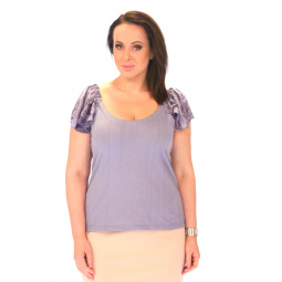 Блуза СВМ-ПРИНТ «Орианна». Цвет: голубой