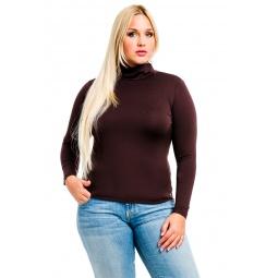 фото Водолазка Mondigo XL 204. Цвет: коричневый. Размер одежды: 48