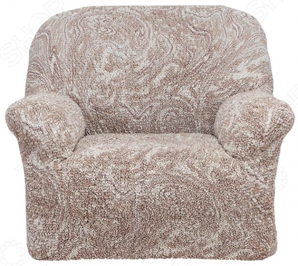 Натяжной чехол на кресло «Виста. Буше»Чехлы на кресла<br>Натяжной чехол на кресло Виста. Буше подарит вторую жизнь старому креслу. Вам надоело однообразие, хотите обновить приевшийся интерьер Совсем не обязательно для этого покупать новую мебель, ведь сегодня можно легко подобрать красивый чехол из богатого ассортимента. При этом изделие выполняет не только эстетическую функцию, но и защитную: от случайных пятен, царапин, протирания и шерсти животных.  Однако чехол окажется полезен и в другой ситуации. Допустим, вы сделали ремонт в комнате, и старое кресло уже не вписывается по стилю в интерьер помещения. Не беда! Просто подберите подходящий чехол и готово. Он без особого труда надевается на кресла практически любого типа и также легко снимается. Изделие сшито из приятной на ощупь ткани, обладающей следующими свойствами:  прочность и износостойкость;  хорошая растяжимость благодаря эластичным нитям в составе ткани;  устойчивость к деформации даже после стирки ;  долго сохраняет свой оригинальный цвет. Материал не требует особого ухода. Допускается ручная или машинная стирка при температуре от 30 до 40 C без применения отбеливающих средств. Одежда для вашей мебели Способов обновить старую мебель не так много. Чаще всего приходится ее выбрасывать, отвозить на дачу или мириться с потертостями и поблекшими цветами. Особенно обидно избавляться от мебели, когда она сделана добротно, но обивка подвела. Эту проблему решают съемные чехлы для мебели, быстро набирающие популярность в России.  Незаменимы чехлы для мебели в домах с маленькими детьми и домашними животными, в гостиных, где устраиваются застолья и посиделки, в интерьерах офисов. В съемных квартирах они помогут сохранить чистоту и гигиеничность. Но все-таки главное их предназначение это эстетическое обновление интерьера. Узнайте больше о плюсах приобретения еврочехлов:  Дизайн еврочехлов исполнен в русле самых свежих трендов рынка интерьерного текстиля. В линейке еврочехлов вы найдете подходящий вариант для воплощен