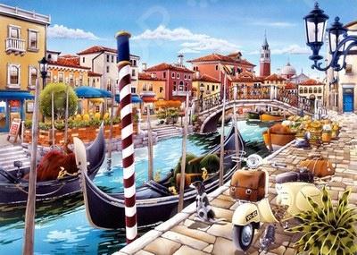 Пазл 1000 элементов Castorland «Венецианский канал в Италии»