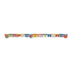 Купить Гирлянда детская Procos «Тачки на старте-Happy Birthday»