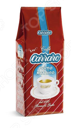 Кофе в зернах Carraro Primo MattinoКофе в зернах<br>Кофе в зернах Carraro Primo Mattino это настоящий подарок для истинных ценителей и поклонников бодрящего, невероятного вкусного и ароматного кофе. Он сочетает в себе лучшие сорта арабики, умело дополненные отборными, собранными на самых известных кофейных плантациях, зернами робусты. Яркий насыщенный вкус, крепость и ни с чем не сравнимый аромат все это Carraro Primo Mattino. Кофе отлично подходит для приготовления эспрессо и различных кофейных напитков.<br>