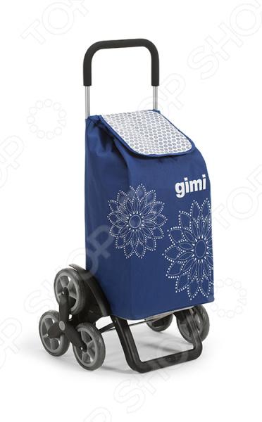 Сумка-тележка Gimi TrisТележки хозяйственные<br>Сумка-тележка Gimi Tris практичное приобретение для тех, кто часто ездит по магазинам или на пикники, но при этом не любит таскать с собой тяжелые пакеты или сумки. Удобное приспособление представляет собой идеальное сочетание практичной сумки и удобной тележки. С такой сумкой вы наконец сможете забыть о неудобных и постоянно рвущихся пакетах, которые не только мешаются, но и очень негативно влияют на окружающую среду. При грузоподъемности в 30 кг, сумка-тележка способна вместить до 56 л. Она будет полезна даже во время контрольной закупки . Стильная и функциональная тележка легко поместится в багажник вашего авто, поэтому её можно без труда взять с собой на дачу для сбора урожая. Главная особенность данной сумки-тележки заключается в тройных колесах, которые позволяют с легкостью преодолевать всевозможные препятствия в виде больших ступенек и бордюров, ям и неровностей. Благодаря такой шагающей колесной системе, вам больше не нужно самостоятельно поднимать сумку, поднимаясь по ступенькам или преодолевая очередной бордюр. Просто потяните сумку сильнее и она легко приподнимется за счет колесиков! Также такие колеса делают ход сумку более ровным, мягким даже на неровной дороге. Специальный стоп-механизм не позволит сумке случайно опрокинуться. Изделие выполнено из прочного полиэстера с водонепроницаемым покрытием, которое отличается своей устойчивостью к бытовому истиранию и воздействию влаги. Верхний клапан не позволит вашим продуктам намокнуть, даже если вы случайно попадете под дождь. Для вашего удобства предусмотрен задний карман для мелочей, а также крепления, с помощью которых вы сможете подвесить сумку на тележку супермаркета. Приятным дополнением является стильный дизайн, который выгодно отличает эту модель от имеющихся аналогов!<br>