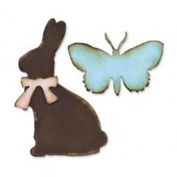 фото Форма для вырубки Sizzix Bigz Die Заяц и бабочка