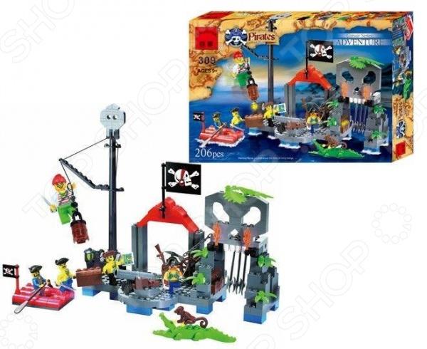 Конструктор игровой Brick «Пиратский остров» коммерческий батут пиратский остров 1112 happy hop