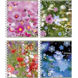 Купить Тетрадь в клетку на спирали Erich Krause «Полевые цветы»
